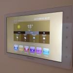 Villa residenziale - Touch Screen principale per il controllo di tutto l'edificio